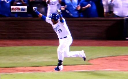 Salvador Perez Wild Card win 2014 TBS TV clip