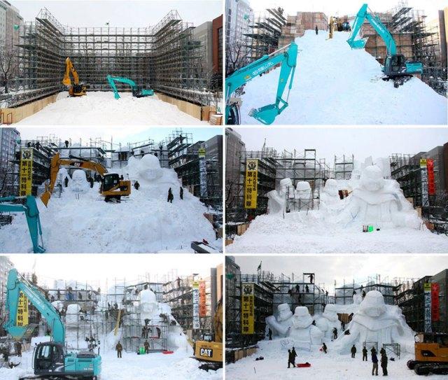 Lucasfilm time lapse Hokkaido snow festival 2015