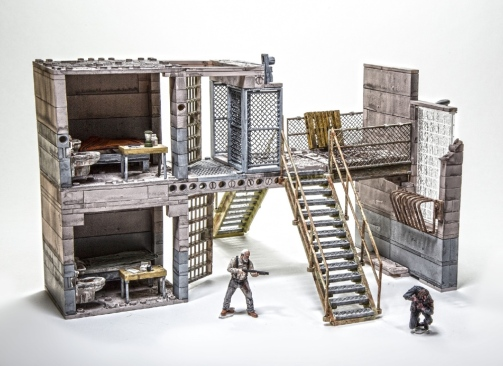 Walking Dead interlocking playsets 2015 Toy Fair
