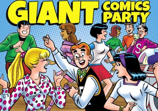 Giant Comics Party banner