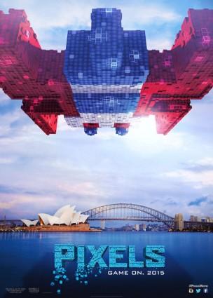 Pixels Galaga poster