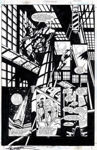 Green Arrow Hester Smith Parks original Batman art