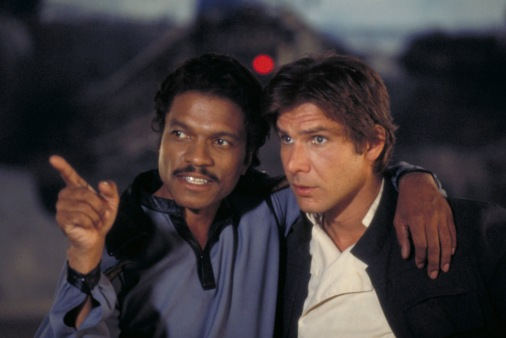 Lando Calrissian Billy Dee Williams and Harrison Ford Han Solo