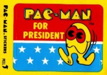 PacMan for President sticker