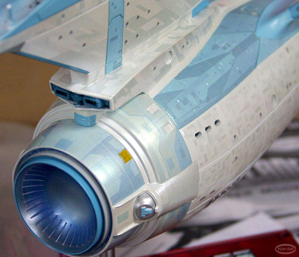Star trek uss enterprise ncc refit 1 scale model -  Polar Lights Ent Close Up