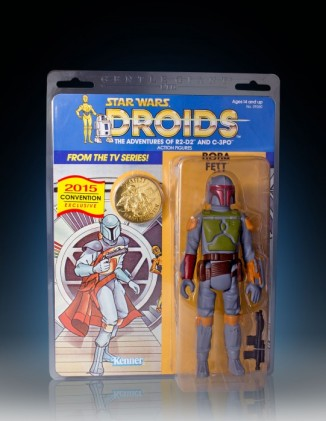 Droids Boba Fett Jumbo card SDCC 2015 Gentle Giant