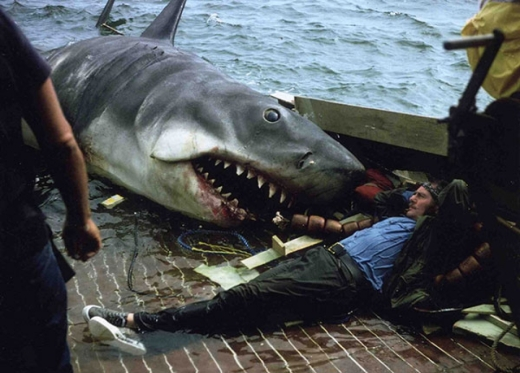 Robert Shaw and Jaws Bruce