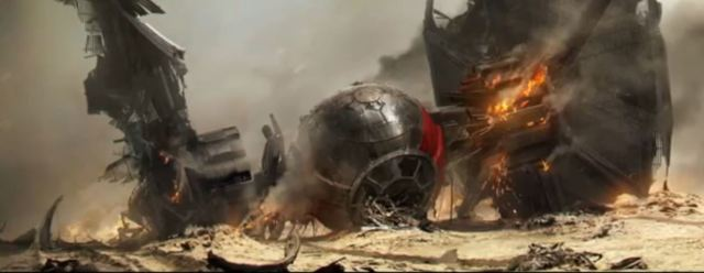 TIE Fighter down Star Wars Force Awakens SDCC 2015
