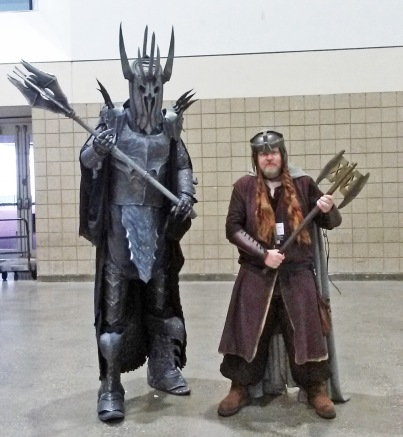 Gimli and Sauron KCCC 2015 Kansas City Comic Con