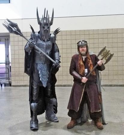 Gimli and Sauron KCCC 2015 Kansas City Comic Con