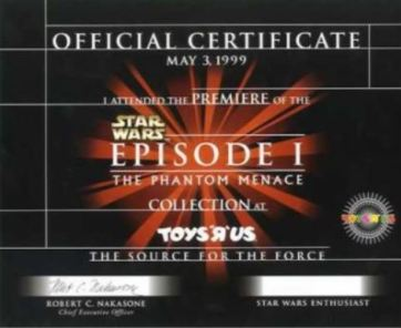 Official May 1999 SW cert
