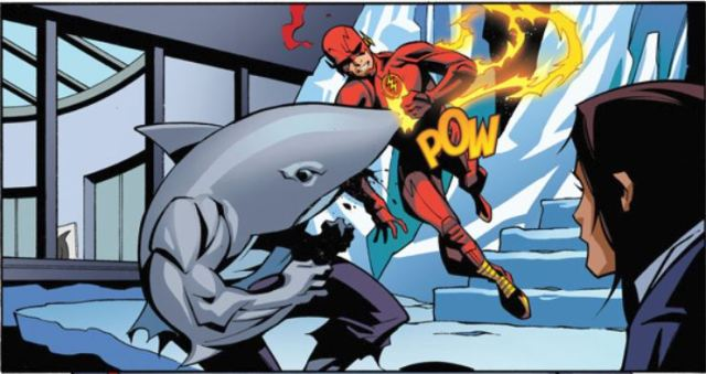 Flash and King Shark