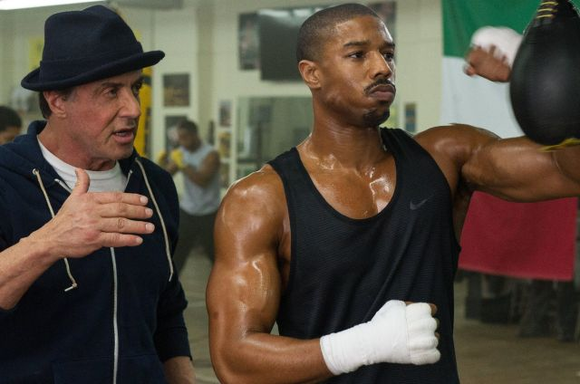 Stallone and Jordan in Creed