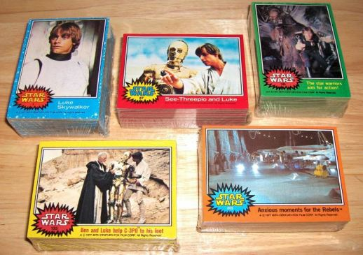 Original Topps cards Star Wars