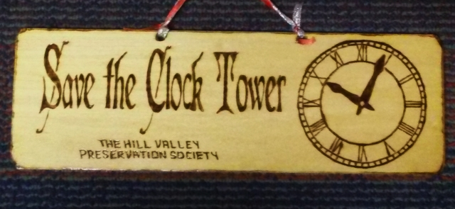 Save the Clock Tower sign