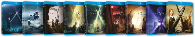 The X-Files single season release Blu-rays