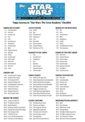 Topps checklist II