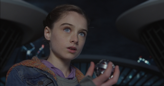 Disney's TOMORROWLAND..Athena (Raffey Cassidy) ..Ph: Film Frame..?Disney 2015