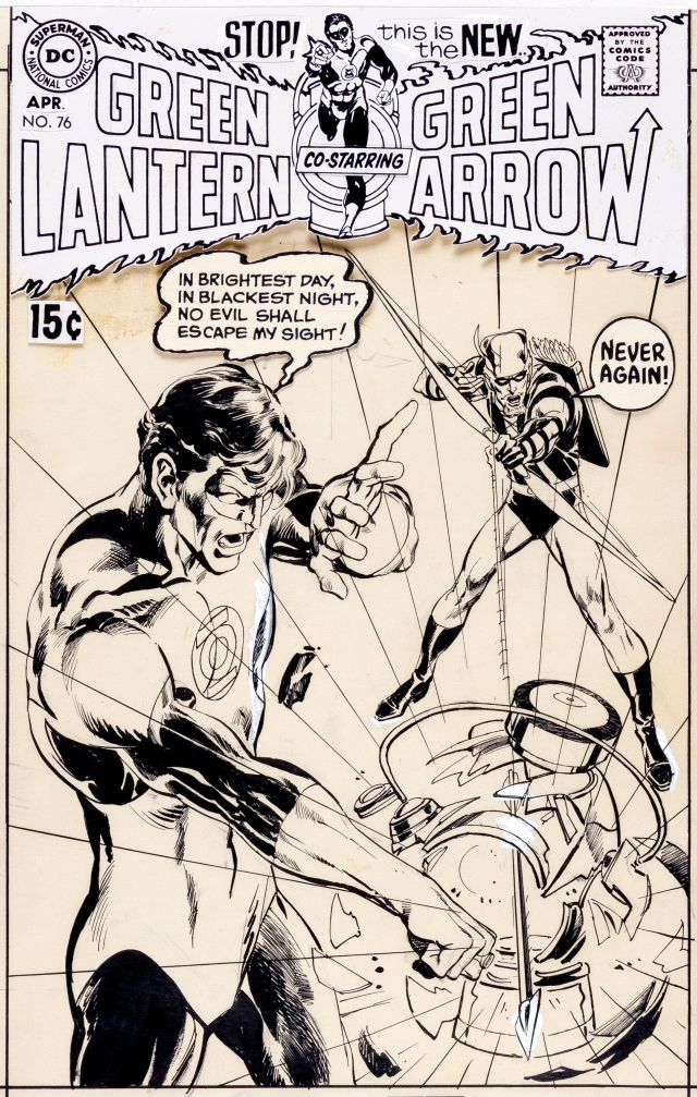 Original Green Lantern Green Arrow 76 cover art Neal Adams