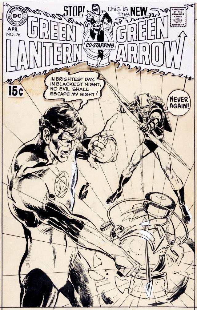 Original Green Lantern Green Arrow 76 cover art Neal Adams