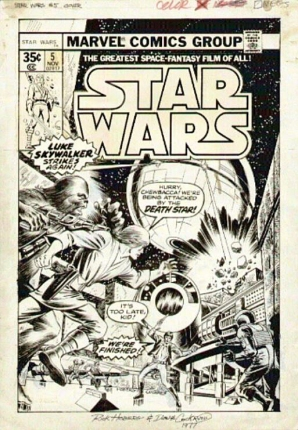 Star Wars 5 cover art Hoberg