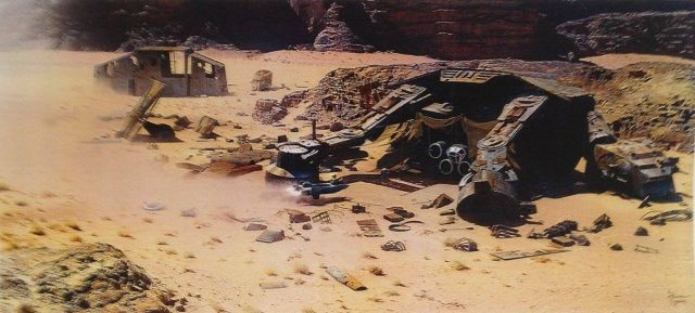reys home in star wars force awakens AT-AT jakku
