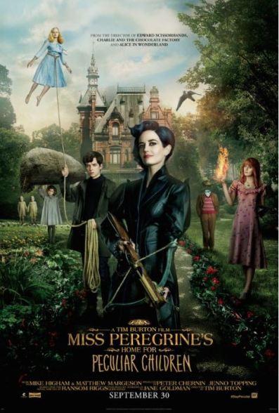 Miss Peregrine Peculiar movie poster 2016