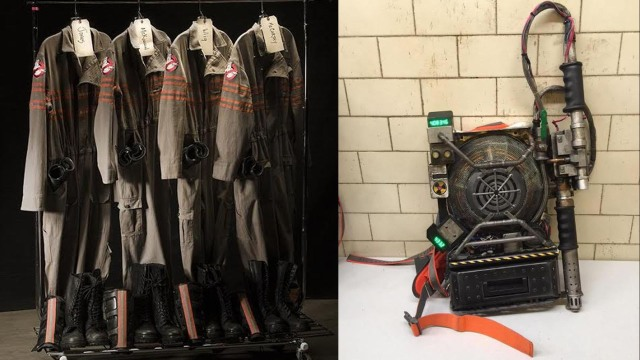 original Ghostbusters costumes and props