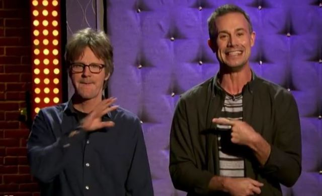 Dana Carvey and Freddie Prinz Jr
