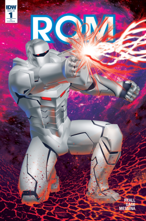 Rom #1 R1 Cover B, by Michael Golden
