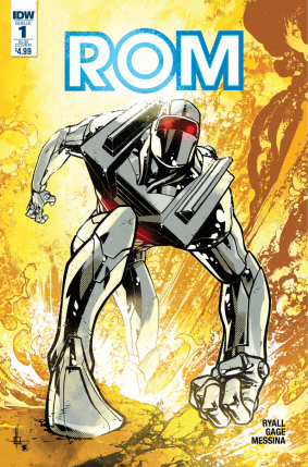 Rom #1 Subscriber Cover A. Art by Zach Howard, colors by Nelson Daniel