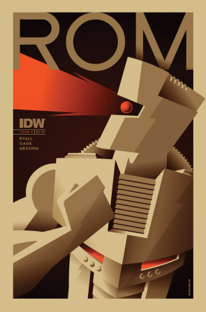 Rom #1 Subscriber Cover b, by Tom Whalen