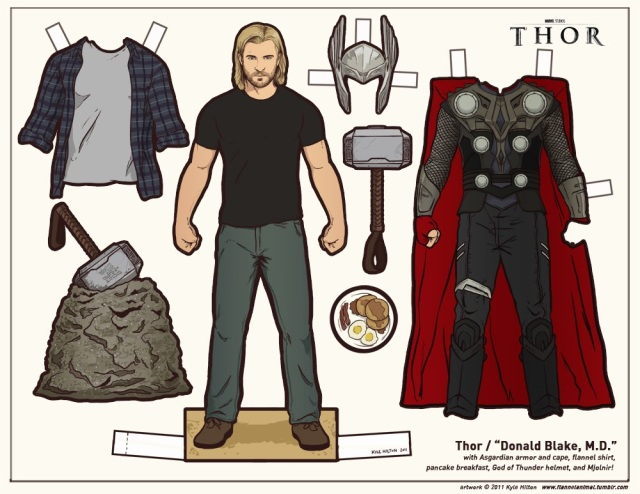 Thor-Paper-Doll