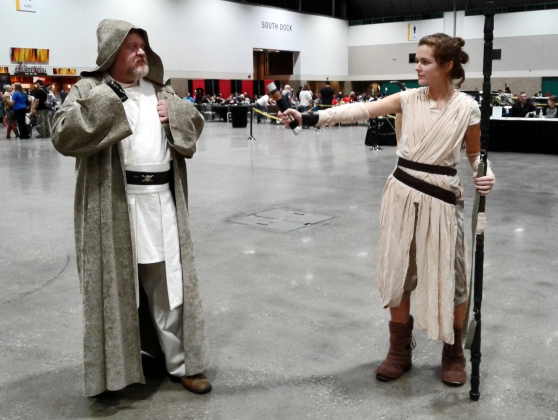 KCCC 2016 Star Wars Rey Luke Force Awakens cosplay kansas City comic con