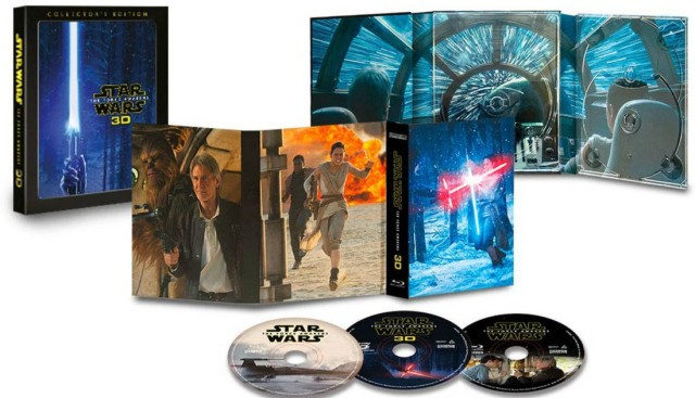 Star Wars Force Awakens Blu-ray 3D collectors edition