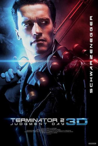 Terminator 2 in 3D poster