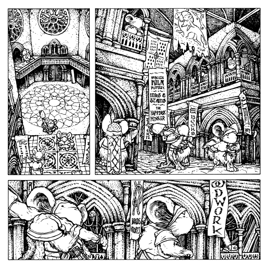 Preview Mouse Guard Coloring Book Doubles As Petersen Original Art Gallery Borg
