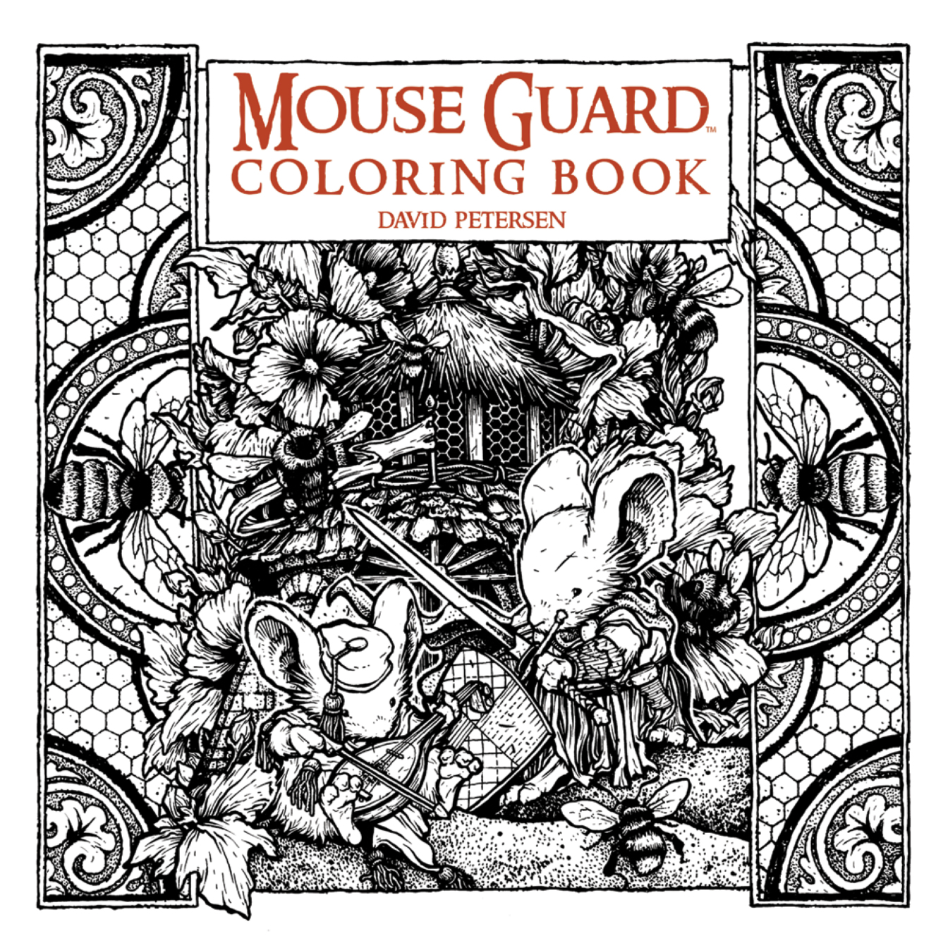 preview u2013mouse guard coloring book doubles as petersen original art