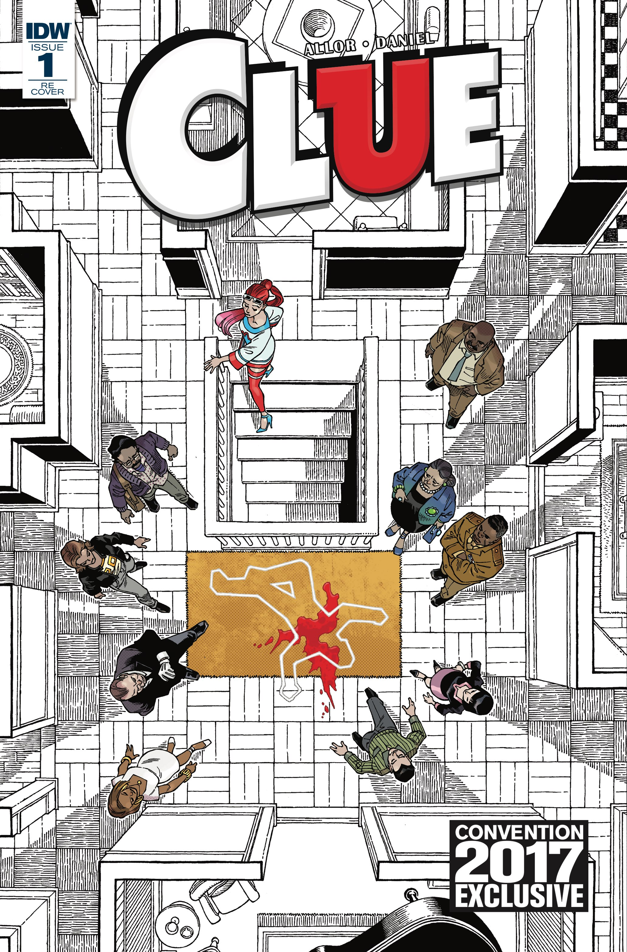 idw publishing previews full slate of san diego comic con 2017 set of rare clue promotional trading cards all tucked neatly into a clue evidence envelope all the familiar faces from the famous board game are back