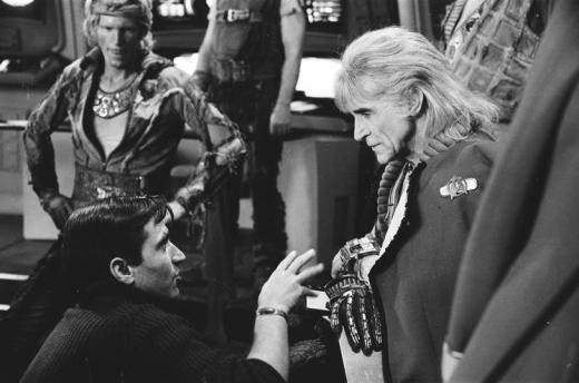 Meyer and Montalban Star Trek Wrath of Khan Enterprise bridge 1982