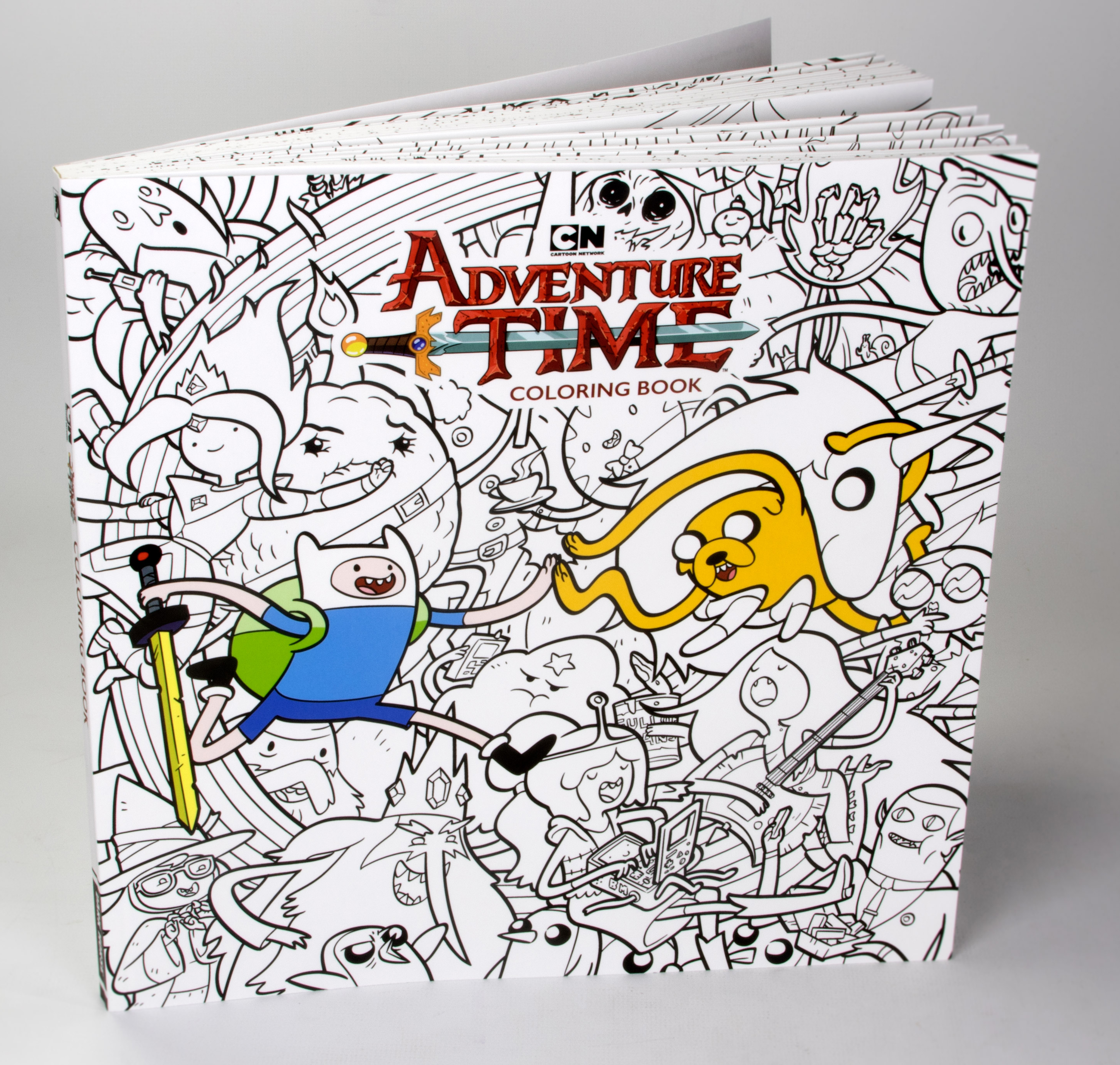 Boom Adventure Time Coloring Book Borg