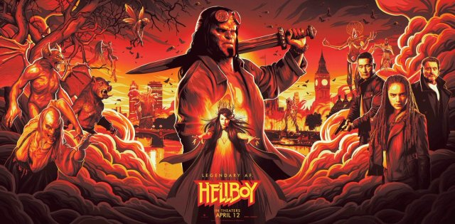 Official Movie Posters 2019: Hellboy 2019 Official Poster