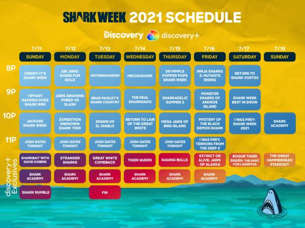 Shark Week 2021 schedule