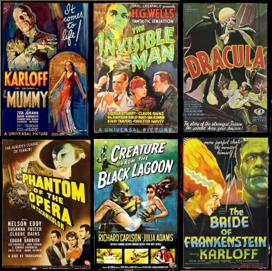 Universal Monster vintage poster montage